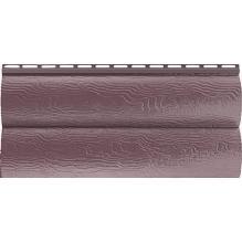 Виниловый сайдинг Альта Профиль Blockhouse (Блокхаус - под бревно), двухпереломный, Красно-коричневый