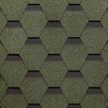 Гибкая черепица коллекции «Сота», Зеленый