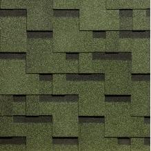 Гибкая черепица коллекции «Тетрис», Зеленый