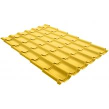 Металлочерепица Grand Line Classic 0,45 PE Цинково-желтый (RAL1018)