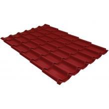 Металлочерепица Grand Line Classic 0,45 PE Красно-коричневый (RAL3011)