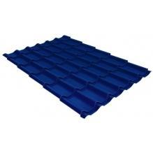 Металлочерепица Grand Line Classic 0,4 PE Сигнальный синий (RAL5005)