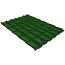 Металлочерепица Grand Line Classic 0,45 PE Лиственно-зеленый (RAL6002)