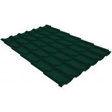 Металлочерепица Grand Line Classic 0,4 PE Зеленый мох (RAL6005)