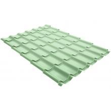 Металлочерепица Grand Line Classic 0,45 PE Бело-зеленый (RAL6019)