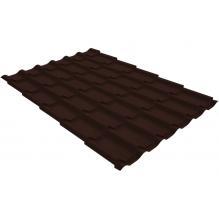 Металлочерепица Grand Line Classic 0,4 PE Шоколад (RAL8017)