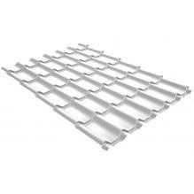 Металлочерепица Grand Line Classic 0,4 PE Сигнальный белый (RAL9003)