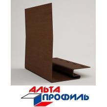 Околооконная планка шир.144мм  коричневая  люкс акрил альта-профиль ( 3м )