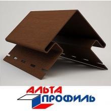 Угол наружный коричневый люкс акрил  альта-профиль ( 3м )