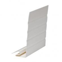 J-фаска ( ветровая, карнизная планка ) Гранд-лайн Белый  ( 3,05м )