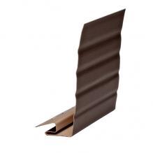 J-фаска ( ветровая, карнизная планка ) темно-коричневая  Гранд-лайн  ( 3,05м )
