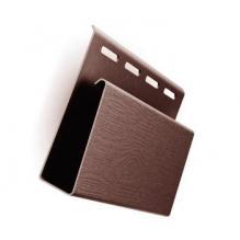Наличник ( J-профиль широкий ) темно-коричневый для винилового сайдинга  Гранд-лайн  ( 3,05м )