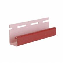 J-профиль для сайдинга, красный ( 3,05 м )