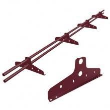 Снегозадержатель трубчатый New Line Винно-красный (RAL 3005)