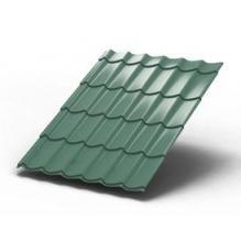 Металлочерепица Монтеррей Светло-зеленый металлик