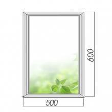 Окно глухое 600*500, 2 стекла. Элемент остекленения
