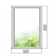 Окно глухое 800*500, 2 стекла. Элемент остекленения