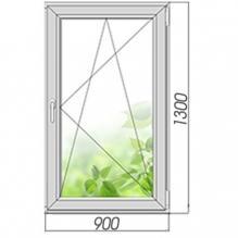 Окно поворотно-откидное 1300*900, 2 стекла. Элемент остекления