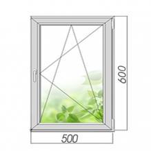Окно поворотно-откидное 600*500, 2 стекла