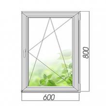 Окно поворотно-откидное 800*600, 2 стекла