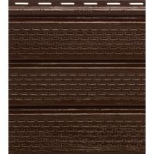 Софит коричневый полностью перфорированный Гранд-лайн