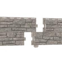 Фасадные панели Стоун Хаус, цвет сланец светло-серый