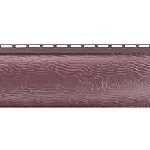 Виниловый сайдинг Альта Профиль Blockhouse (Блокхаус - под бревно), однопереломный, Красно-коричневый