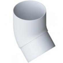Колено трубы Альта-профиль Элит   ПВХ белое 45°