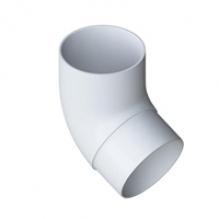 Колено трубы Альта-профиль Элит  ПВХ белое 67°