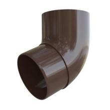 Колено трубы Альта-профиль Элит   ПВХ коричневое 67°