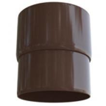 Муфта трубы Альта-профиль Элит   ПВХ коричневая