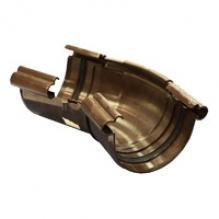 Угол жёлоба Альта-профиль Элит    120-145° ПВХ коричневая