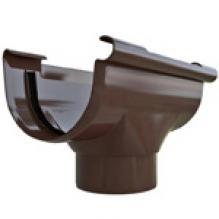 Воронка ПВХ Альта-профиль Элит  коричневая 82 мм