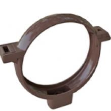 Хомут трубы Альта-профиль Элит   ПВХ коричневый