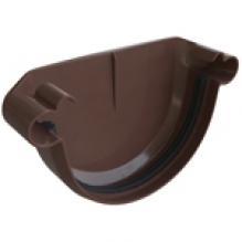 Заглушка ПВХ Альта-профиль Элит  для вод. сист. коричневая