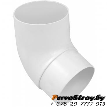 Колено трубы 67 Эконом Альта-Профиль Белый - изображение 1