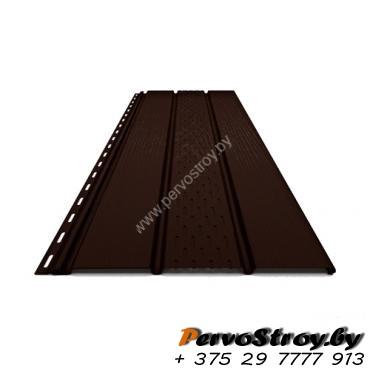 Софит ПВХ Budmat, RAL 8019 Тёмно-коричневый - изображение 1