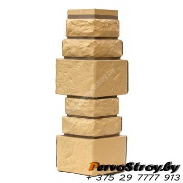 Угол для цокольного сайдинга Wellbeen Дикий камень - Камень Пустынный - изображение 1