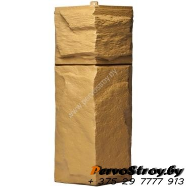 Угол для цокольного сайдинга Wellbeen Гранит Леон - Гранит Бежевый - изображение 1