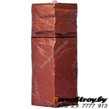 Угол для цокольного сайдинга Wellbeen Гранит Леон - Гранит Бордо - изображение 1