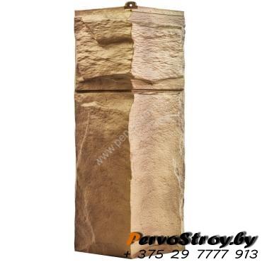 Угол для цокольного сайдинга Wellbeen Гранит Леон - Гранит Тянь Шань - изображение 1