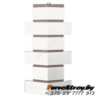 Угол для цокольного сайдинга Wellbeen Кирпич Керамический - Керамит Белый - изображение 1