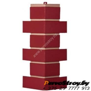 Угол для цокольного сайдинга Wellbeen Кирпич Керамический - Керамит Бордо - изображение 1