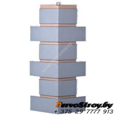 Угол для цокольного сайдинга Wellbeen Кирпич Керамический - Керамит Серый - изображение 1