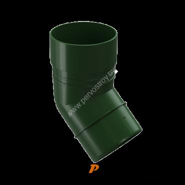 Колено 45 гр водосточный DACHA Docke Зеленый - изображение 1