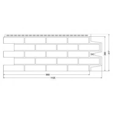 Фасадные панели Grand Line Стандарт Коричневый кирпич - изображение 2