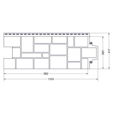 Фасадные панели Grand Line Стандарт Бежевый камень - изображение 2