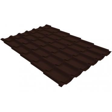 Металлочерепица Grand Line Classic 0,4 PE Шоколад (RAL8017) - изображение 1