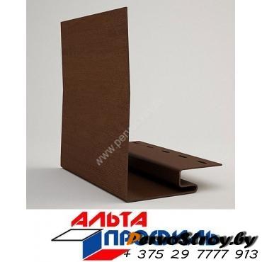 Околооконная планка шир. 240мм коричневая люкс альта-профиль ( 3м ) - изображение 1