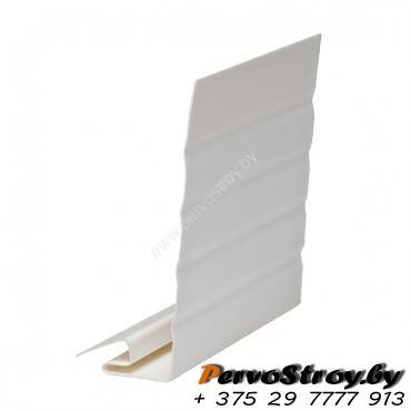 J-фаска ( ветровая, карнизная планка ) шир.25 см белая  VOX ( 3.05м ) - изображение 1